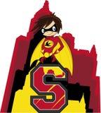 S é para o super-herói ilustração stock