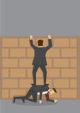 S'élever au-dessus de l'illustration de bande dessinée de vecteur de mur illustration stock