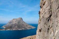 S'élever dans Kalymnos image libre de droits