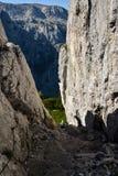 S'élever de chemins de dessus de Berchtesgaden Photographie stock libre de droits