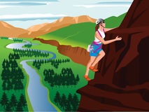 S'élever de montagne Photos libres de droits