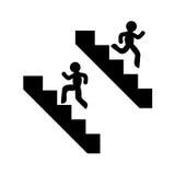 S'élever et descendre des symboles d'escaliers illustration de vecteur