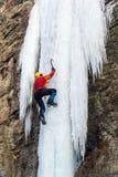 S'élever extrême de glace photographie stock