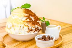 Słód Bingsu i choccolate Zdjęcia Royalty Free