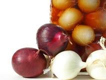 słój cebule bejcowali Zdjęcia Royalty Free