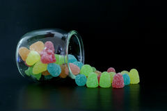 Słój cukierki Fotografia Stock