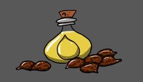 Słój z rycynowym - olej, ilustracja Zdjęcia Royalty Free