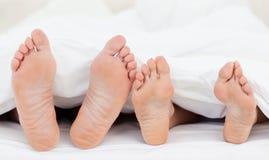 s łóżkowi rodzinni cieki fotografia stock