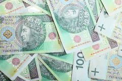 100's γυαλίζουν τα zloty τραπεζογραμμάτια ως υπόβαθρο χρημάτων Στοκ φωτογραφίες με δικαίωμα ελεύθερης χρήσης