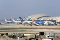 A380s σε ΑΜΕΛΗ Στοκ Εικόνες