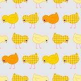 ` S безшовное, заплатка детей, лоскутное одеяло с цыплятами Стоковые Фото