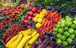 ` S вены Naschmarkt большинств популярный рынок Стоковая Фотография