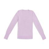 ` S женщин краснеет пуловер v-шеи, изолированный на белизне Стоковое фото RF