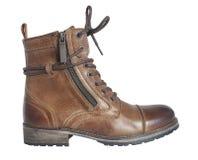 ` S женщин шнурует вверх коричневый ботинок Стоковое Фото