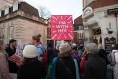 ` S Лондон -го женщин март, 2016 Стоковые Изображения RF
