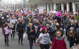 ` S март женщин на Вашингтоне стоковое изображение