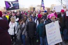 ` S март 2018 женщин Hartford Стоковые Фото