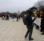 ` S Международная Амнистия -го март женщин, на национальном моле, капитолий США, Вашингтон, DC, США Стоковые Изображения RF