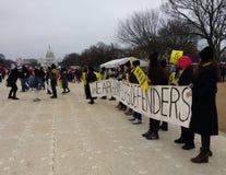 ` S Международная Амнистия -го март женщин, на национальном моле, капитолий США, Вашингтон, DC, США Стоковые Фото