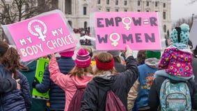 ` S Минесота -го 2017 женщин март Стоковая Фотография RF