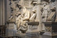 ` S Моисей Микеланджело в базилике Стоковая Фотография