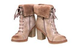 s обувает женщин предпосылка boots белая зима Стоковые Изображения RF