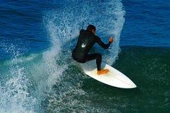 ` S прибоя вверх на Тихом океан пляже Стоковое Изображение
