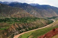 ` S Тибет Китая, Река Lancang Стоковая Фотография