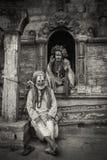 ` S фестиваля и Бабы Shivratri на виске Pashupatinath Стоковые Изображения RF