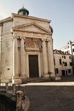 S Церковь Maddalena, винтажные оттенки, Венеция, Италия, Европа стоковые изображения