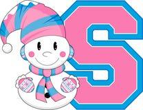 S для снеговика Стоковое Изображение RF