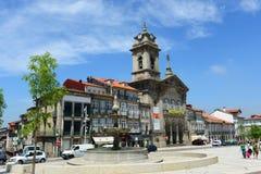 S.佩德罗Church,吉马良斯,葡萄牙 图库摄影