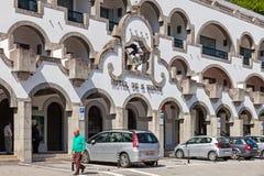 S 在圣所前面位于的Bento旅馆 免版税库存照片