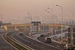 S17近赛车场到鲁布林,波兰 免版税库存图片