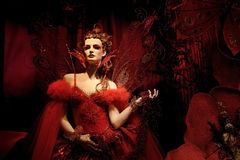 礼服幻想方式高模型红色s 库存图片