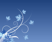 μπλε διάνυσμα φύλλων πτώση&s Στοκ φωτογραφία με δικαίωμα ελεύθερης χρήσης
