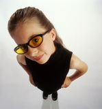 S-1212-girl wearing sunglasses Royalty Free Stock Photos