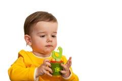 γιορτάζοντας μικρό παιδί Πά&s Στοκ φωτογραφία με δικαίωμα ελεύθερης χρήσης