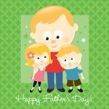 белокурый отец счастливый s дня Стоковое Изображение
