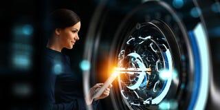 Рука и концепция технологии управляя r стоковое изображение rf