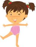 να κάνει το κορίτσι άσκηση&s Στοκ εικόνα με δικαίωμα ελεύθερης χρήσης