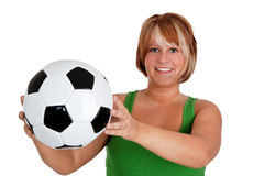 s足球妇女 库存图片