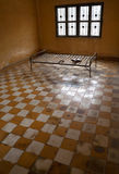 S-21 prison of the death, Phnom Penh. A room which was used to torture prisoners during Pol Pot regime in Phnom Penh Stock Photo