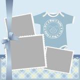 婴孩看板卡逗人喜爱的s模板 免版税库存照片