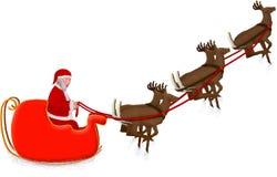 s圣诞老人雪橇 库存照片
