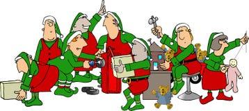 s圣诞老人讨论会 免版税库存图片