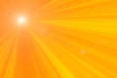 излучает солнце s Стоковое Фото