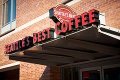 最佳的咖啡s西雅图界面 库存图片