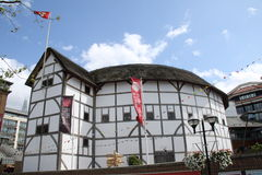 地球伦敦s莎士比亚 库存照片