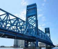 桥梁杰克逊维尔主要s街道 图库摄影